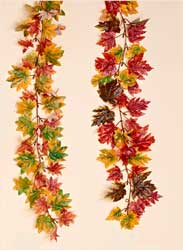 "71"" Maple Leaf Garland"