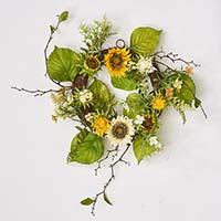 "20"" SUNFLOWER BERRY WREATH"