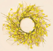 "16"" FORSYTHIA WREATH - 6.5 Inner Diameter"