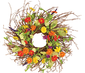 "24"" Multicolor Daisy Wreath"