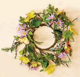 "3.25"" Mixed Daisy Candle Ring"