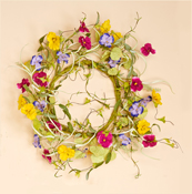 "21"" Pansy Wreath"