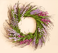 "20"" Purple Flower Wreath"