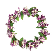 "3"" Lavender Pip Candle Ring with Berry & Leaf"