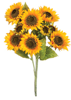 "25"" Sunflower Bush with 6, 6"" Sunflowers and 3, 3"" Buds"