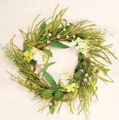"24"" Mixed Green & Floral Wreath"