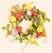 "11"" Daisy Wreath (6.5"" I.D.)"