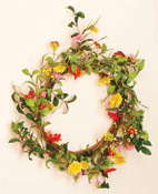 "20"" Colored Daisy Wreath -CLOSE OUT"
