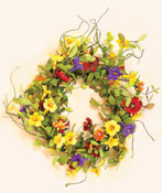 "24"" Mixed Floral Wreath"