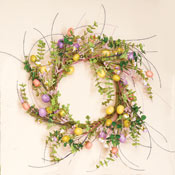 "22"" Multicolor Easter Egg Wreath"