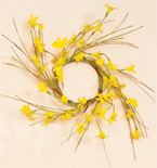 "3.25"" Forsythia Candle Ring"