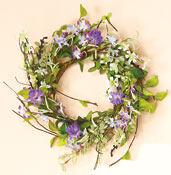 "18"" Perwinkle Wreath"