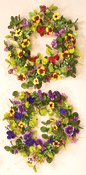 "22"" Mixed Wreath W/ Pansy"