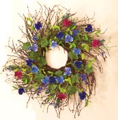 "28"" Mixed Wreath w/ Pansy"