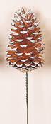 "5"" Gold/White Pine Cone Pick"