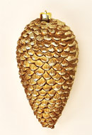 "10"" Shiny Plastic Pine Cone Ornament"