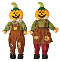 "33"" Standing Pumpkin Scarecrow - Close Out"