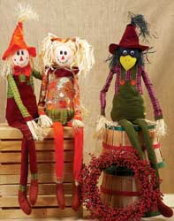 "40"" Long Leg Sitting Scarecrow"