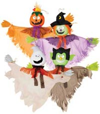 "40"" Hanging Halloween Ghosts with Hands"