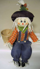 "14"" Scarecrow with 5"" Basket"