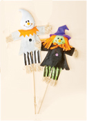 "24"" Halloween Witch & Ghost Pick"