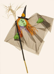 "60"" Witch With Broomstick as Pole"