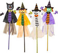 "60"" Halloween Figures On a Stick"