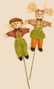 "36"" Boy and Girl  Scarecrow on Stick"