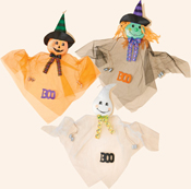 "40"" Hanging Ghost, Pumpkin, Witch w/ Cans"