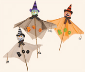 "36"" Halloween Figures on Stick with Cans"