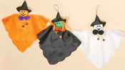 "12"" Hanging Ghost, Pumpkin,Witch"