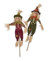 "36"" Scarecrow on Stick, 2 Assorted"