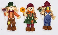 "16"" STANDING SCARECROW WITH SIGN OR FLOWER"