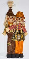 "36"" ATTACHED STANDING BOY & GIRL SCARECROW"