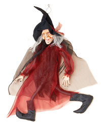 "39"" Hanging Walking Witch"