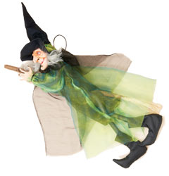 "39"" Hanging Witch on Broom"