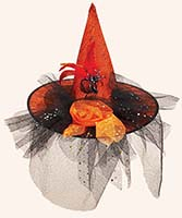 Orange Decorated Witch Hat