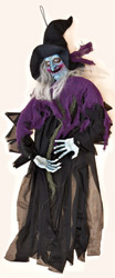 "35"" Hanging Witch With Sound & Touch Activated Flashing Eyes & Sound"