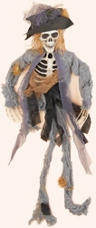 "35"" Hanging Skeleton Scarecrow"