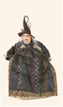 "17"" Hanging Dressed Witch"