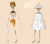"20"" Skeleton Bride & Groom"