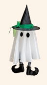 "24"" Hanging Ghost w/ Hat & Legs"