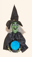 "34"" Witch  w/ Glowing Ball & Bubbling Sound"