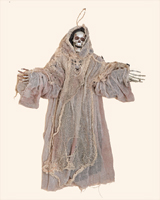 "36"" Hanging Skeleton Grim Reapor in Cloth"
