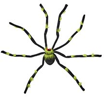 "28"" BLACK & GREEN TARANTULA WITH FLASHING EYES"