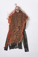 "28"" BLACK CLOTH WITCH WITH ORANGE NET"