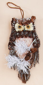 "12"" Hanging Natural Owl"