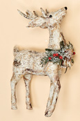 "15"" Icy Standing Birch Reindeer With Bells"