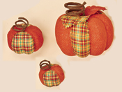Burlap & Plaid Pumpkins