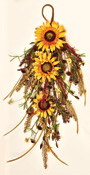 "28"" Mixed Fall Sunflower Teardrop"